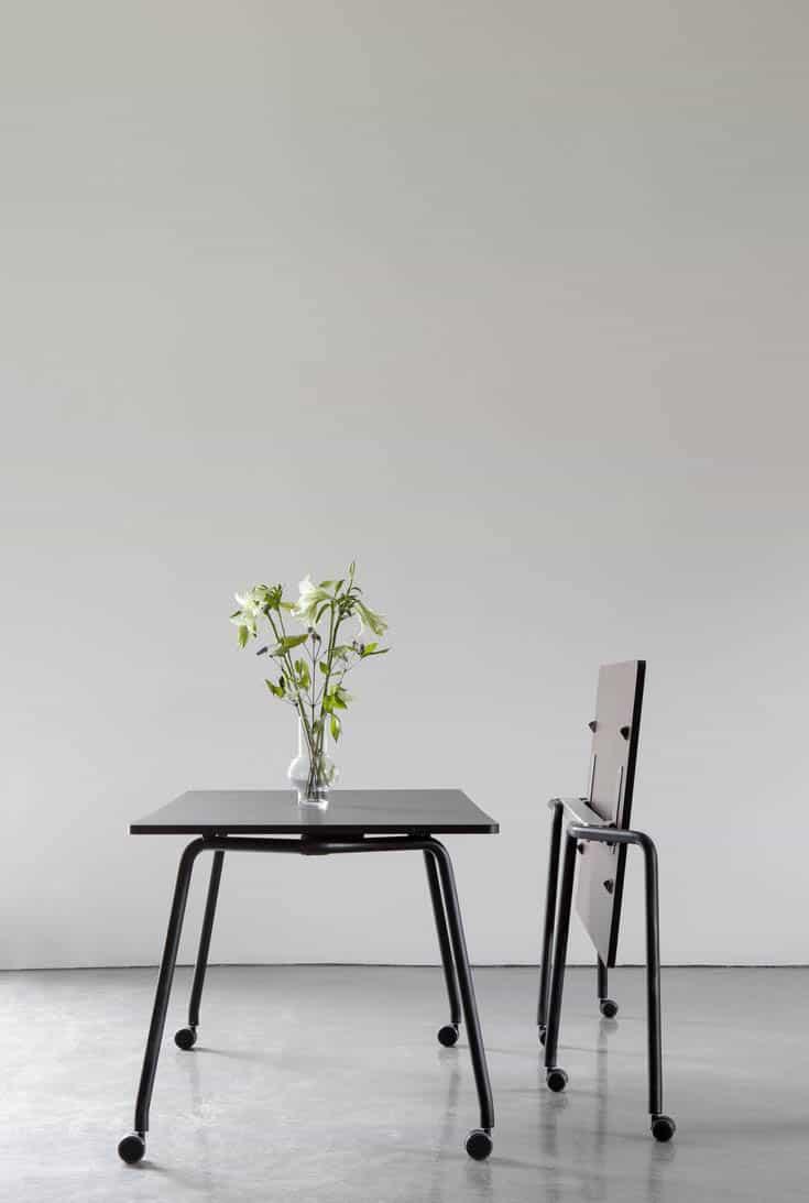FOURDESIGN FOUR FOLD  table polyvalent avec plateau rabattable