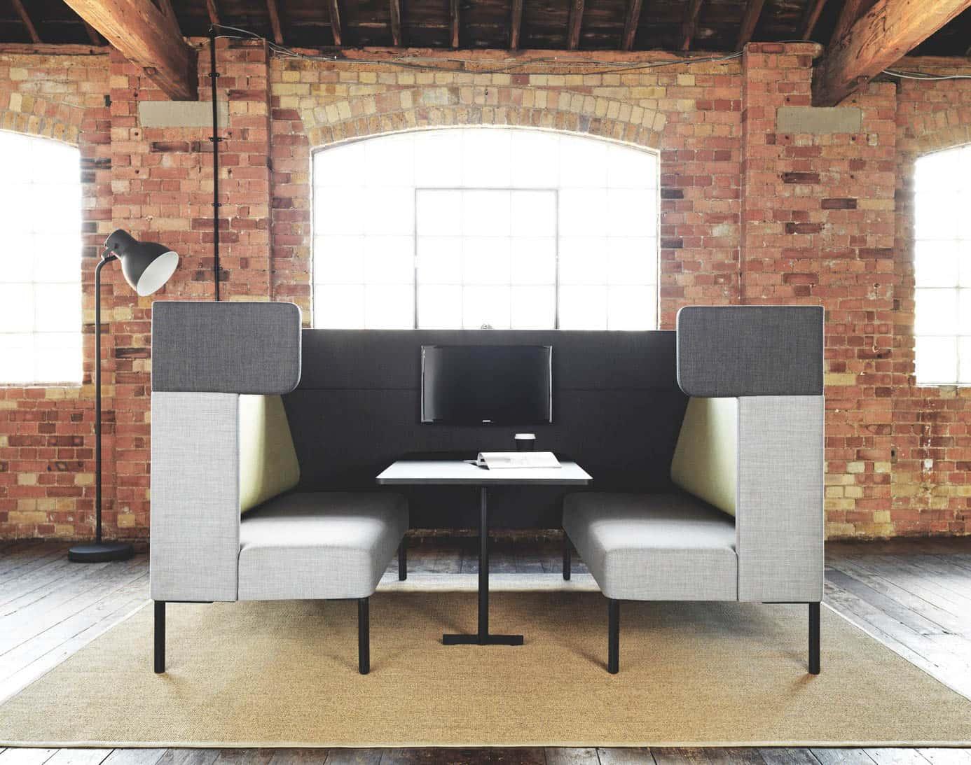 FOURDESIGN FOURUS BOOTH espace de travail pour 4 personnes avec