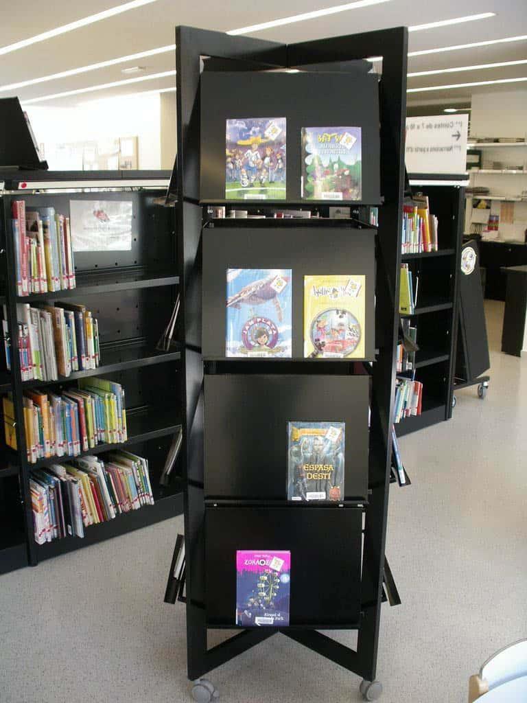 METALUNDIA présentoir pour livres