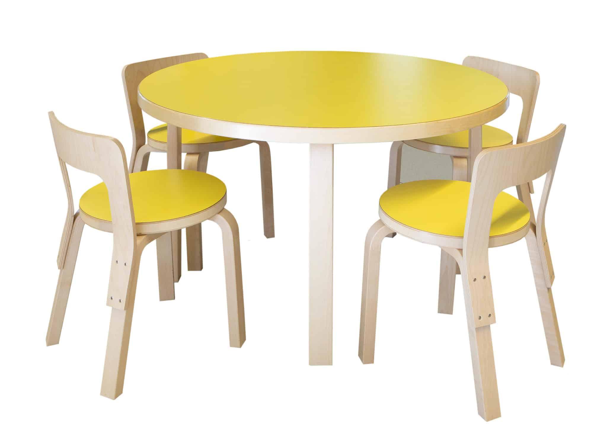 METALUNDIA chaise en bois avec assises colorées