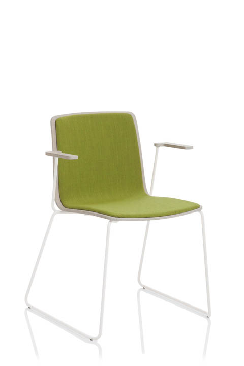 EMMEGI YO chaise boisassise et dossier tissu