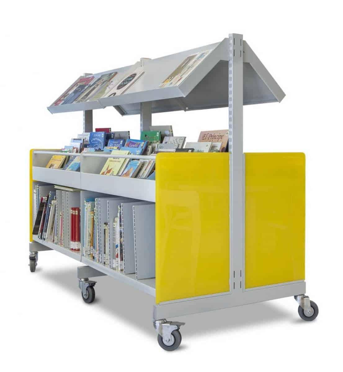 METALUNDIA LORCA Présentoir à livres sur roulettes