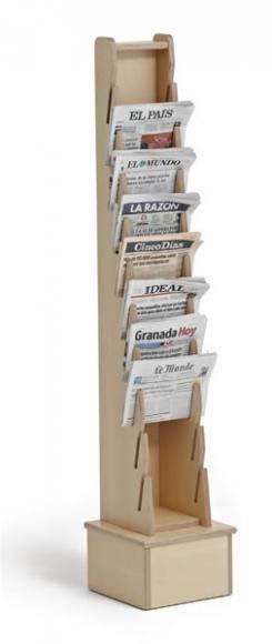 METALDUNDIA présentoir vertical à  journaux