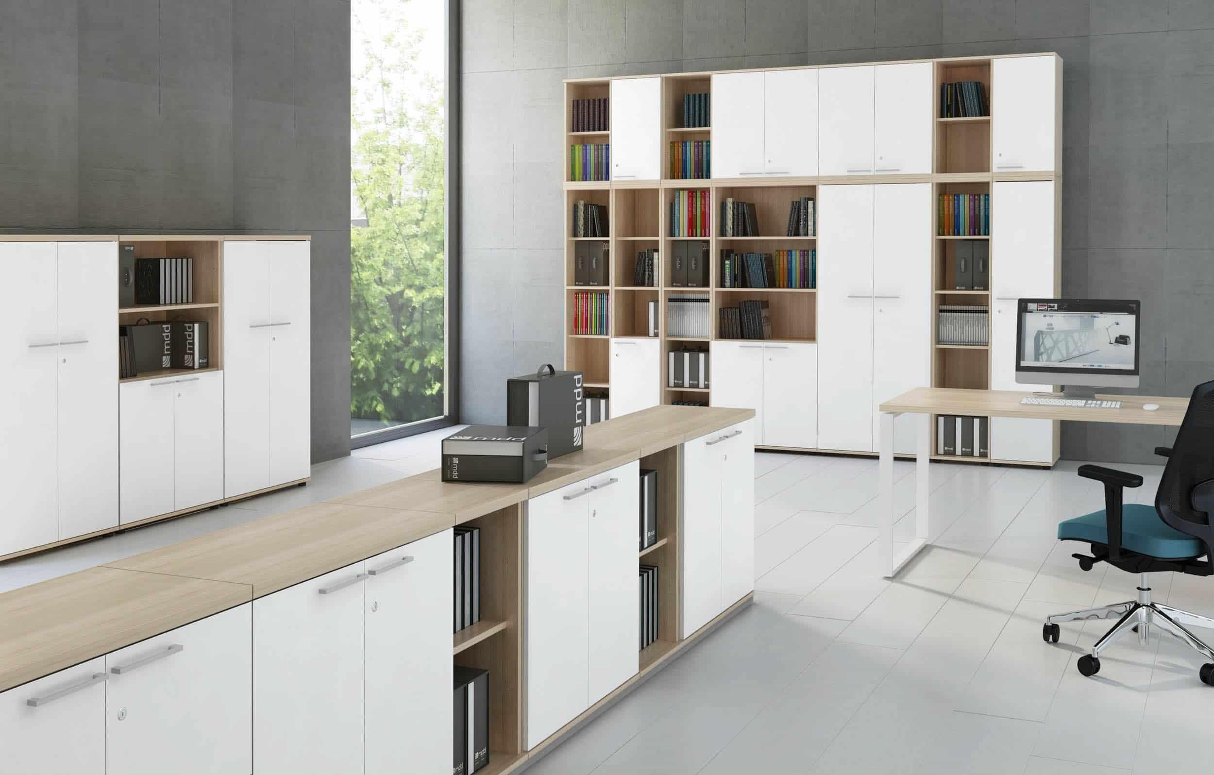 mdd étagère armoire standard chène-blanc