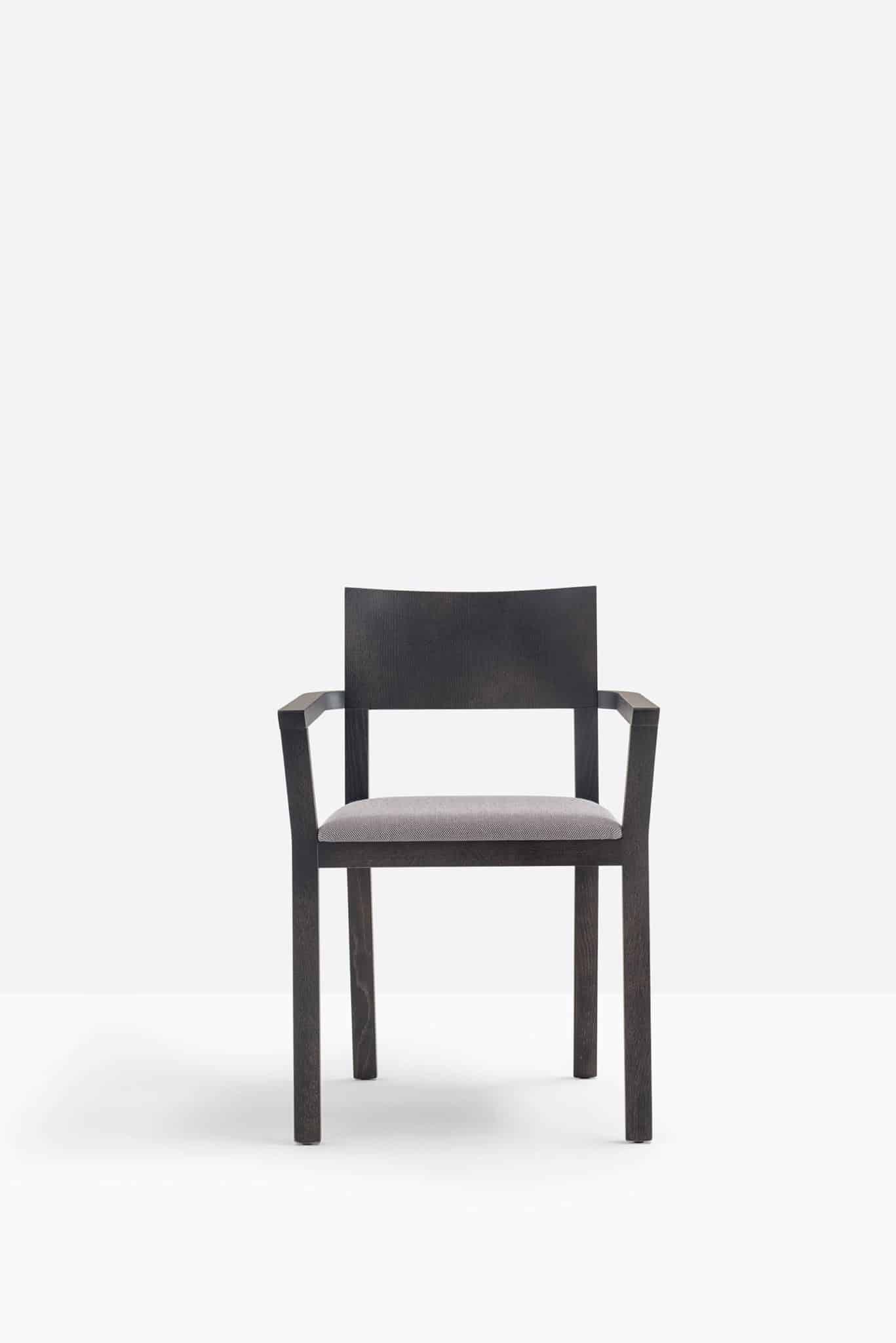 PEDRALI FEEL 451 fauteuil bois assise tissu