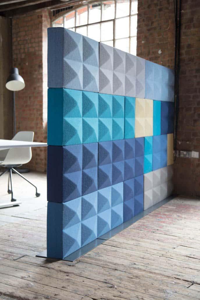 four design Fabricks, briques super acoustiques faites de mousse