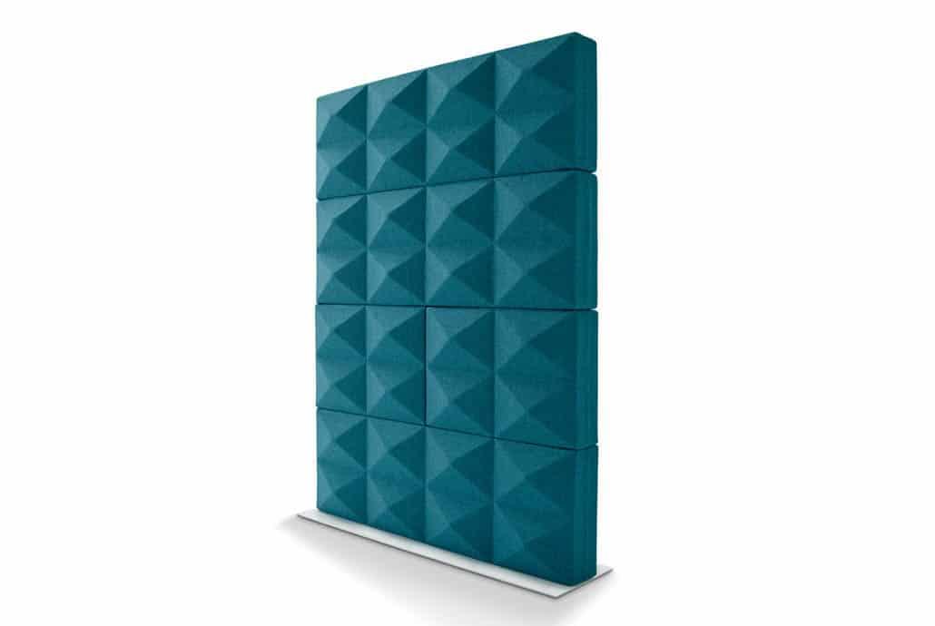 four design fabricks briques  faite de mousse acoustiques et de