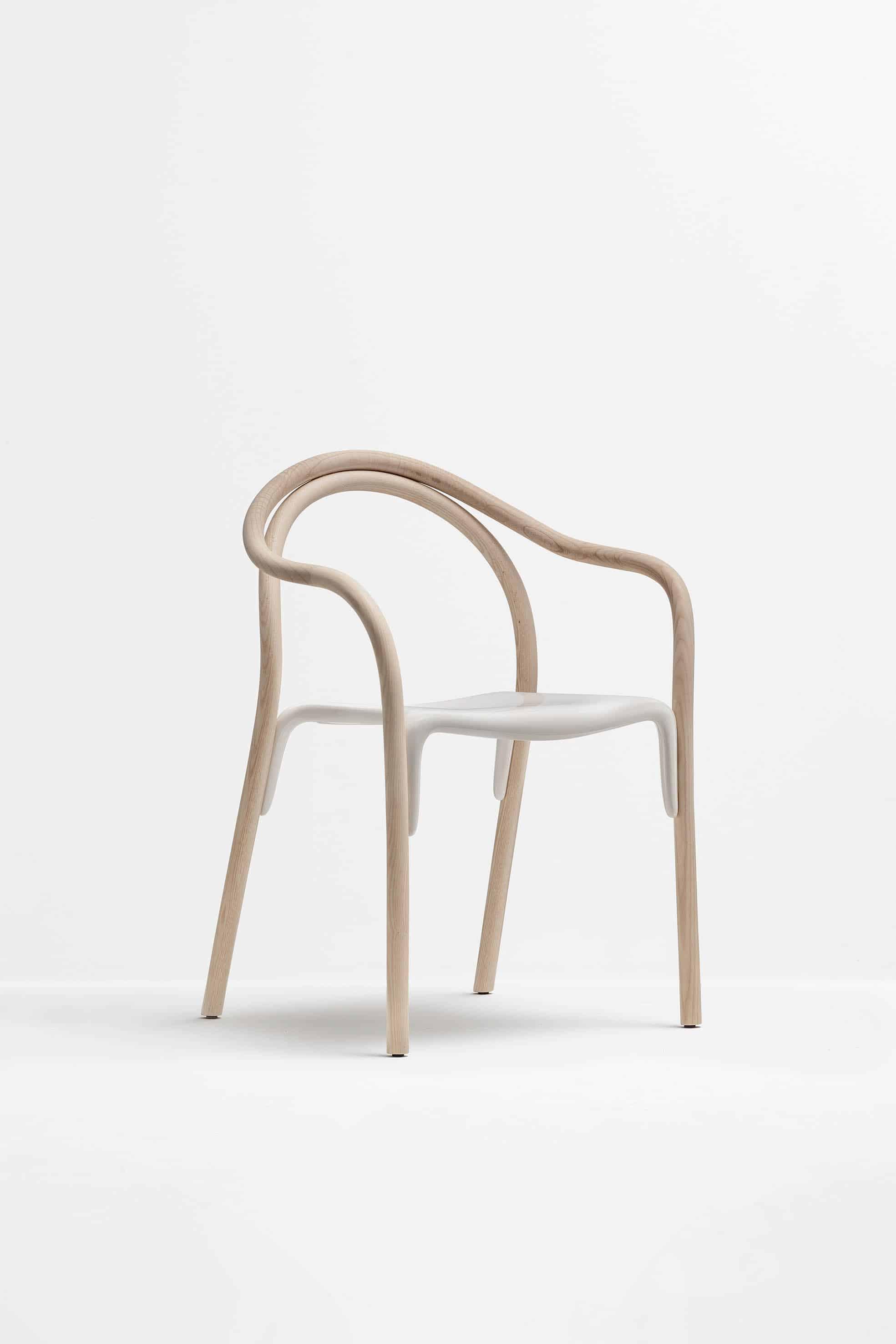 PEDRALI SOUL 3745 fauteuil contemporain avec son assise en polyc