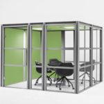 mdd Hako cabine de bureau acoustique avec éclairage intégré p