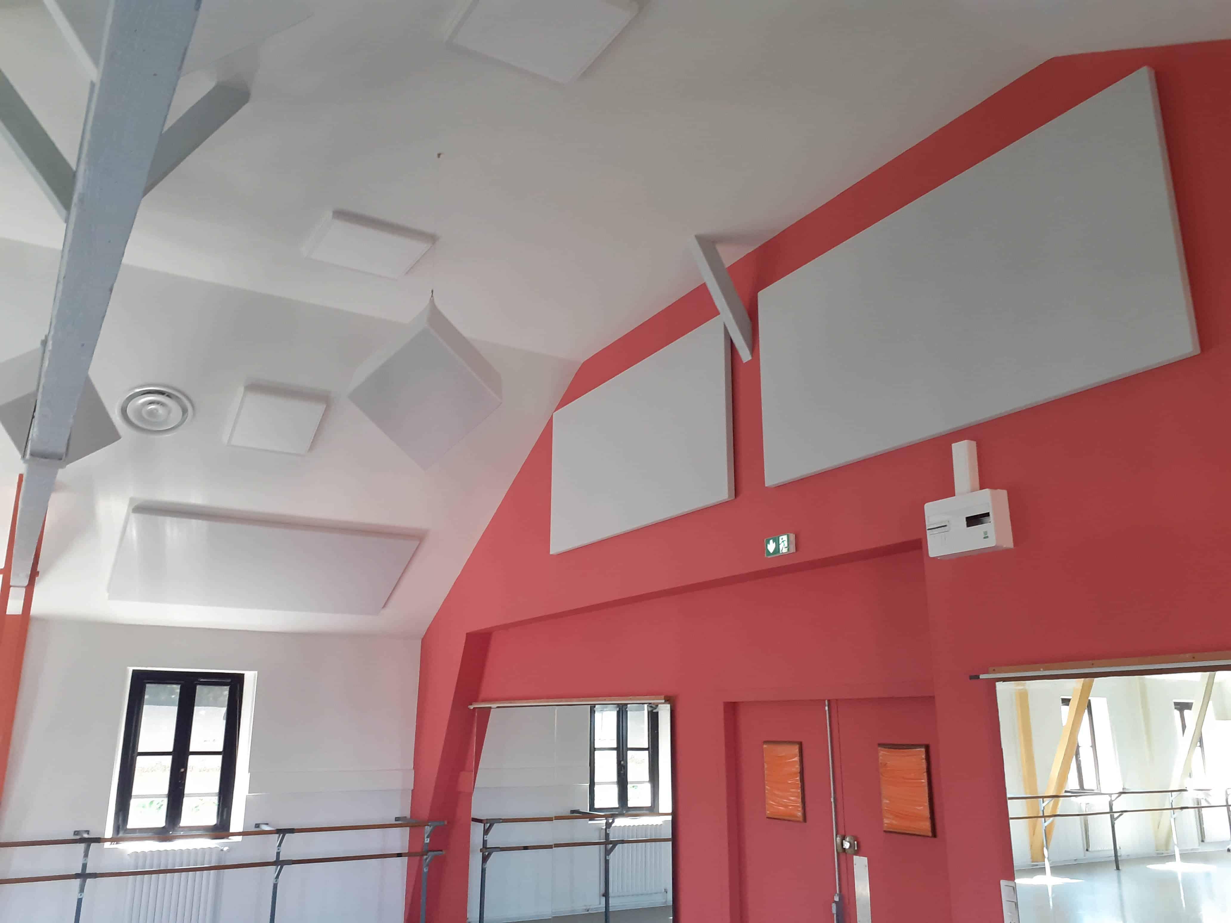 Concervatoire bayonne panneaux acoustiques