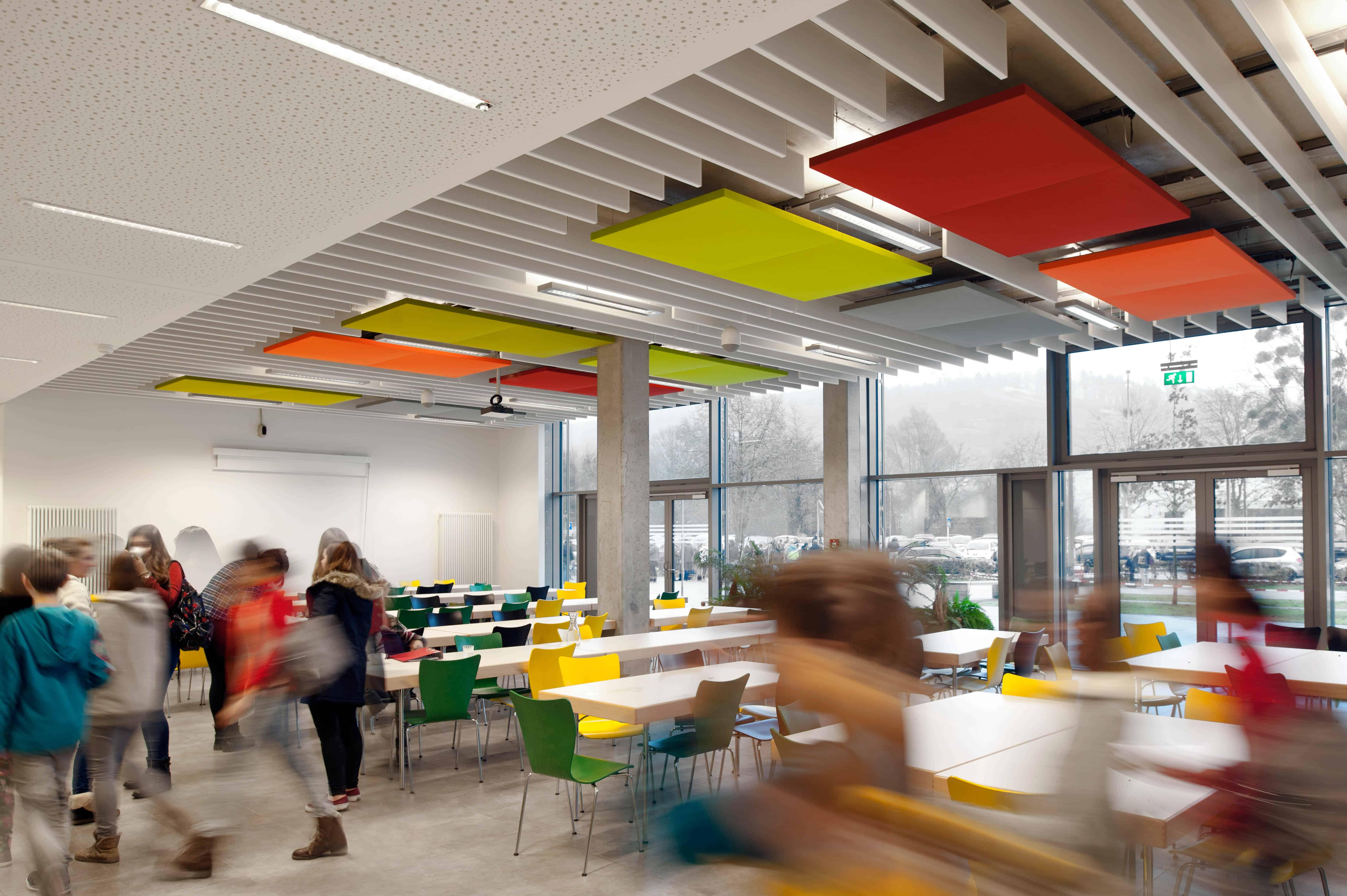 Texaa Panneaux Stereo une face Lycée technique de Mersch Luxembourg Architectes ArcoArchitecture © Catherine Thiry